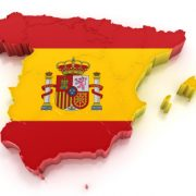 Map of Spain and Flag